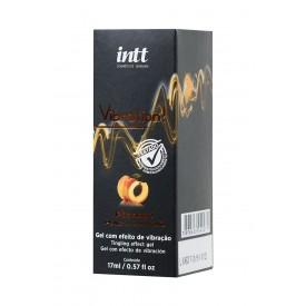 Жидкий массажный гель INTT VIBRATION Peach с ароматом персика и эффектом вибрации - 17 мл.
